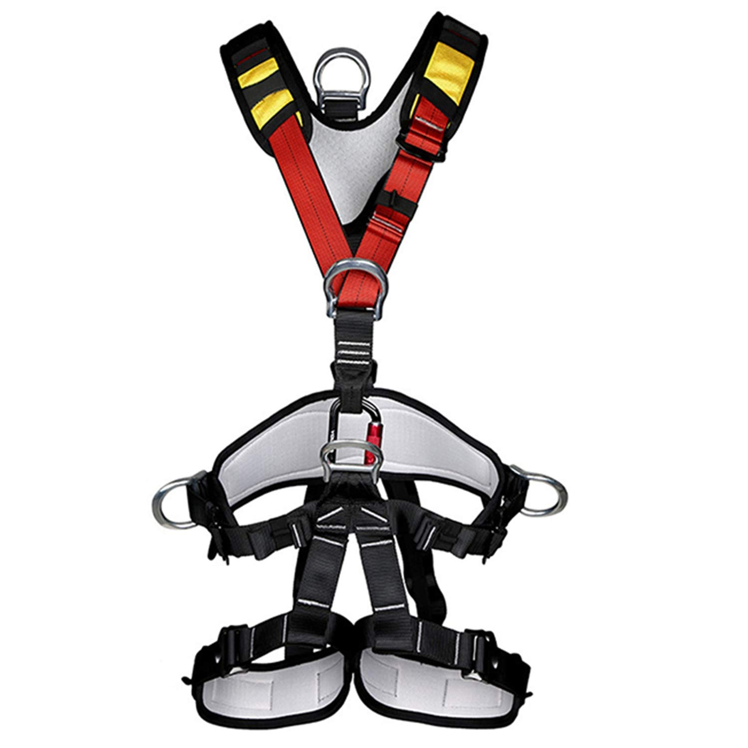 Nrpfell Outdoor Climbing Rock Rappelling Mountaineering Accessories Body Wearing Seat Belt Sitting Waist Bust Protection by Nrpfell (Image #6)