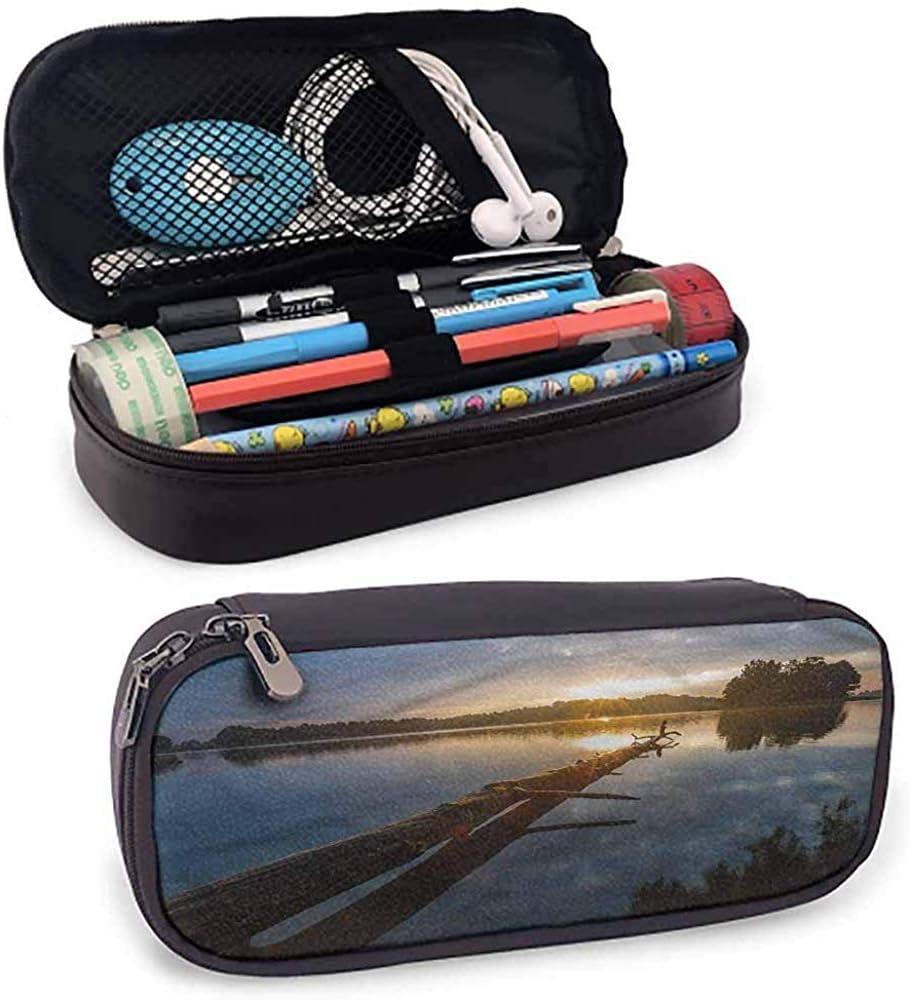 Estuche de madera flotante para niñas Lago capisinz en Polonia Estuche de lápices Sunny Day Zipper: Amazon.es: Oficina y papelería