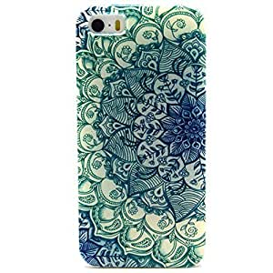 iPhone 5 Case, iPhone 5S Case - Sunshine Case Fashion Style Colorful Painted Green Flower TPU Case Back Cover Protector Skin For iPhone 5 5S(Green Flower)