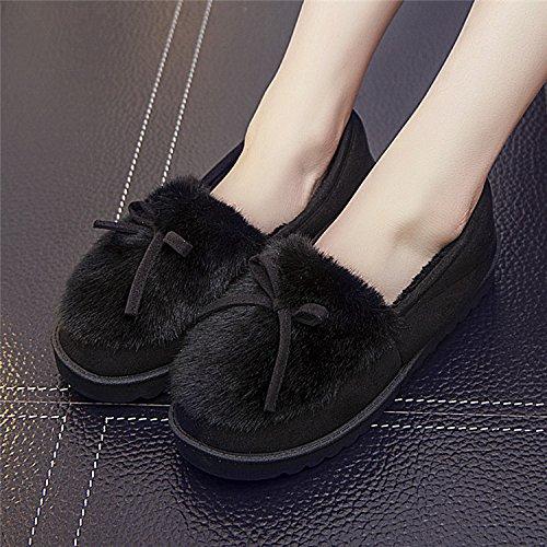 LaxBa Femmes Hommes Chaussures Slipper antiglisse intérieur 37 noir