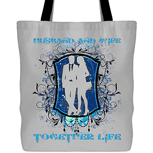 579728d22f52 Amazon.com: Husband And Wife Together Life Tote Bags - Shopping ...