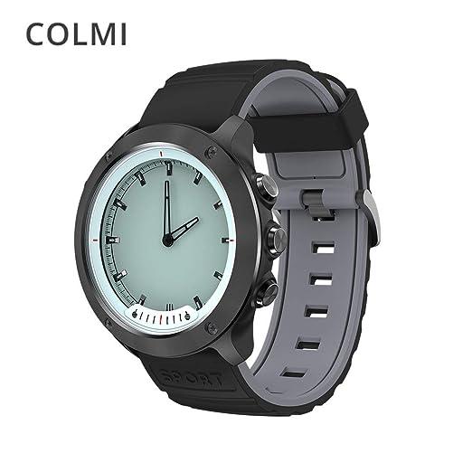 COLMI M5 Smart Watch Relojes de Reloj de Acero Inoxidable Reloj Pantalla Inteligente de Relojes Inteligentes Relojes Inteligentes para iOS Android: ...