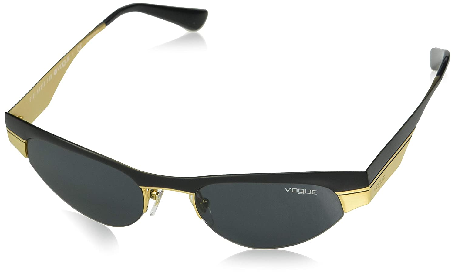 Vogue 0VO4105S Gafas de sol, Matte Black/Brushed Gold, 51 ...