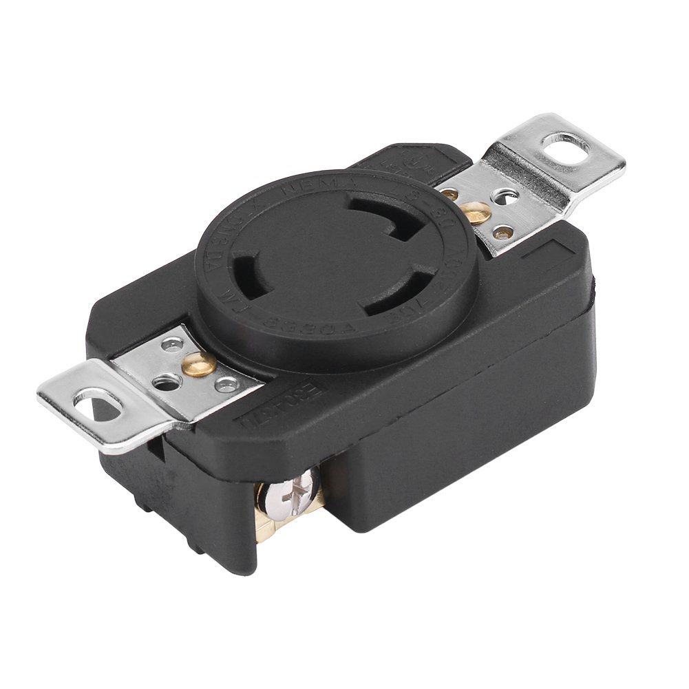 Nema L6 30r 30 Amp 250 Volt Twist Lock Female Wall Outlet Receptacle Wiring Regulations Allow You To Convert Any Plug Socket On The Circuit Us 3 Wire Industrial Grade Grounding Flush Mounting Power Generator