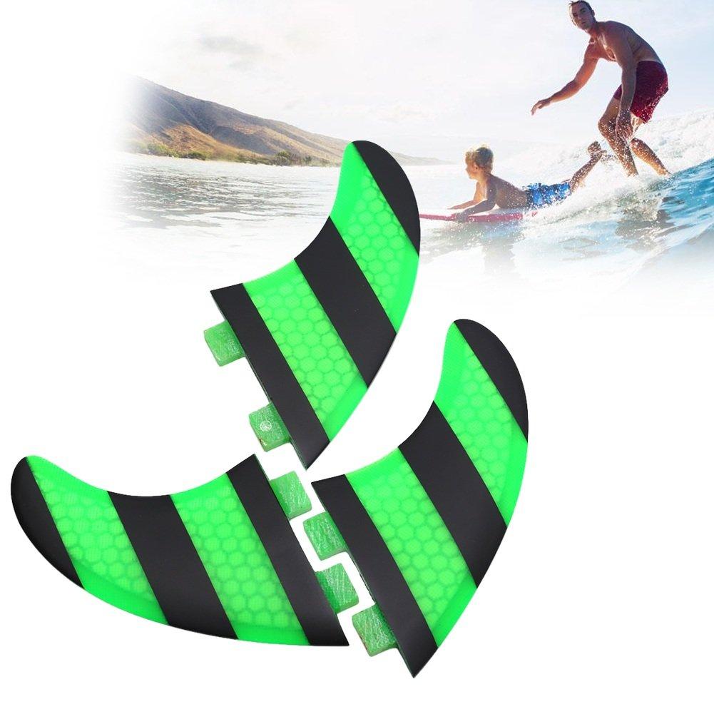 FCS G5 Aletas para tabla de surf, alto rendimiento, 3 quillas thruster para nadar, surfear y paddle board: Amazon.es: Deportes y aire libre