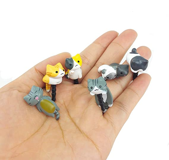Image Unavailable. Image not available for. Color  yueton Pack of 6 Cat  Dust Plug Stopper Universal 3.5mm Anti Dust Earphone Jack Plug 5ba4a5f11a3b