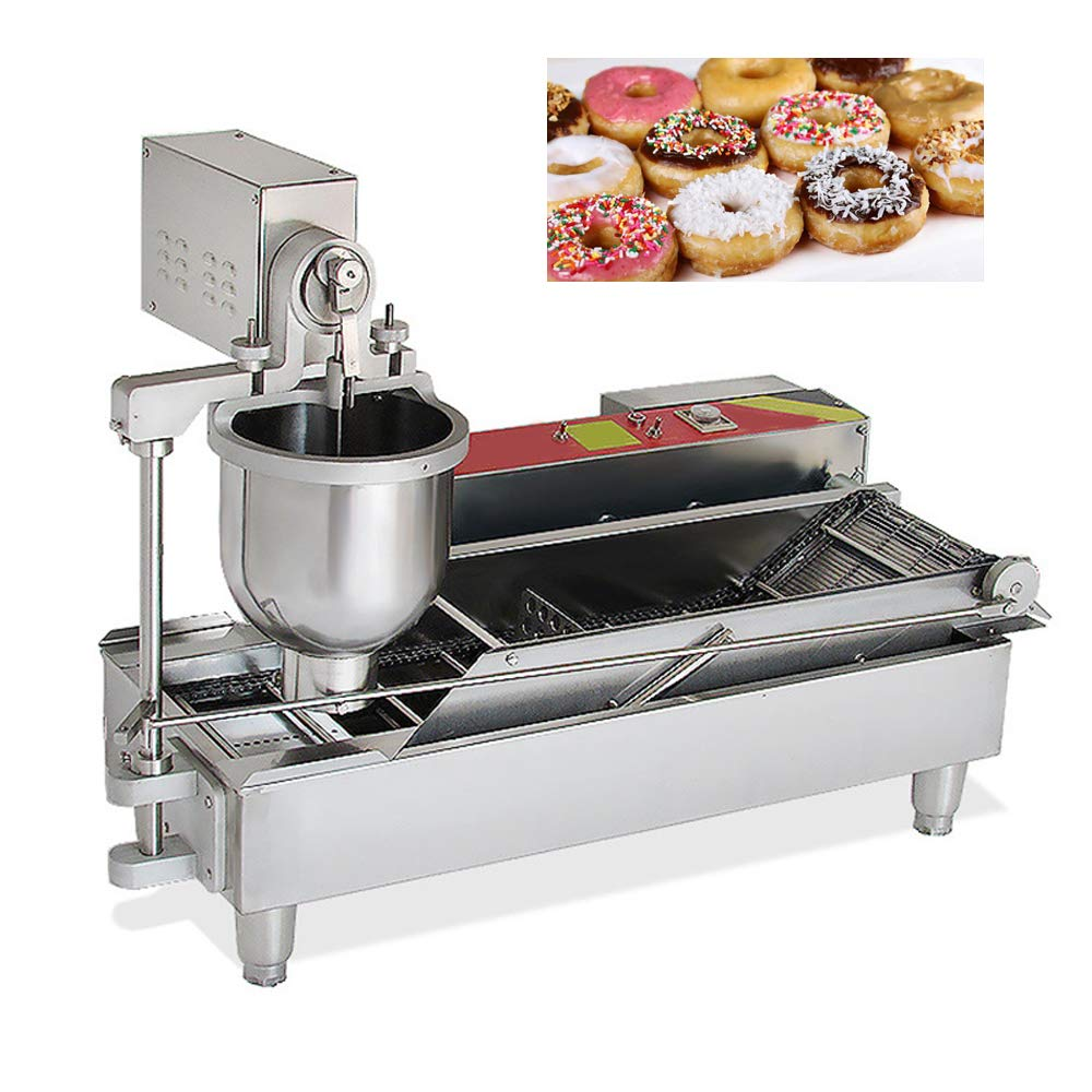1100 pcs/h Automatic Doughnut Donut Machine Maker 7L Commercial Electric Donut Fryer with 3 Mold by Fencia