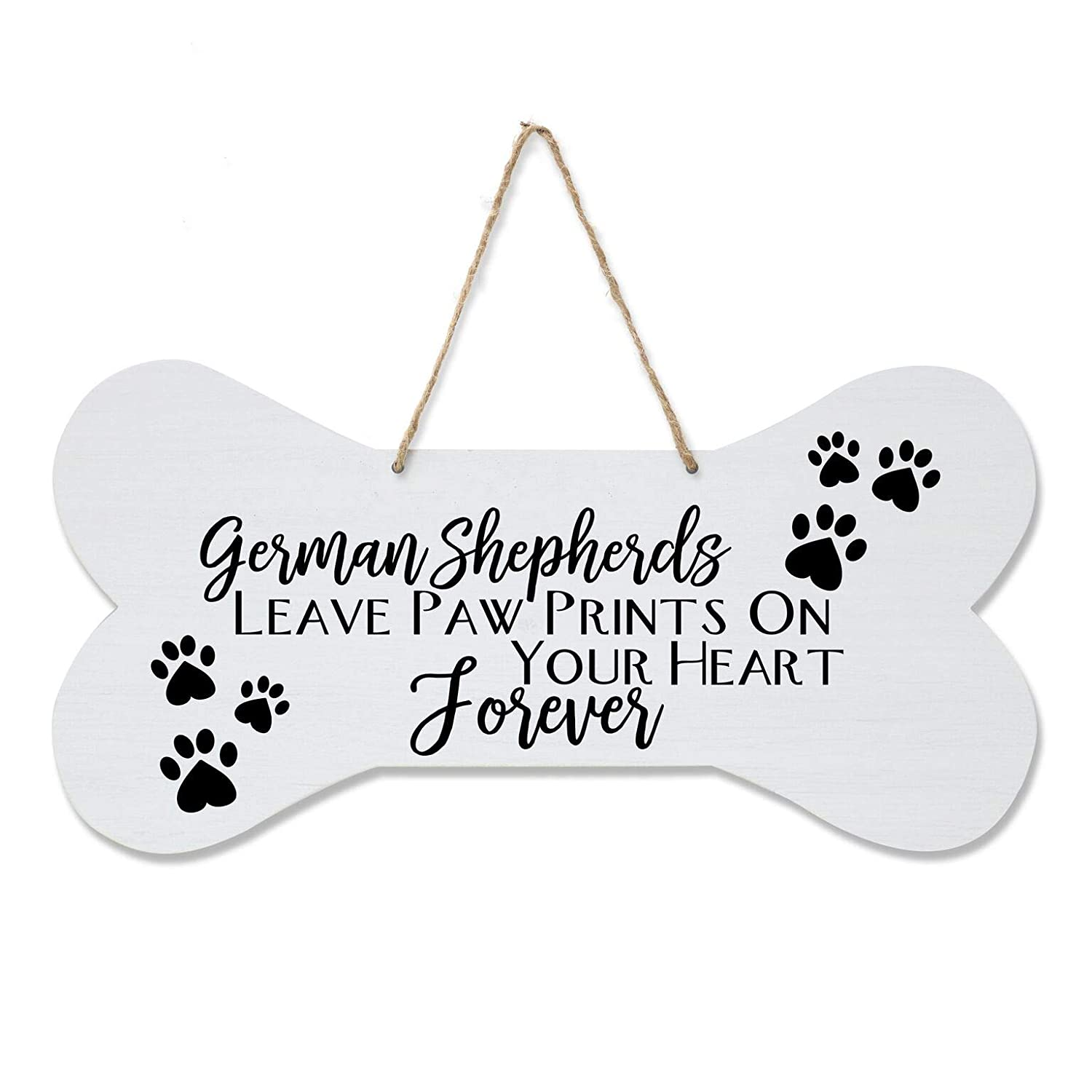 "White A House LifeSong Milestones German Shepherd Pet Quote Dog Bone Wall Hanging Sign Dog Owner Gift for Home Decor 8/"" x 16/"" Dog Lovers Gifts for Women"