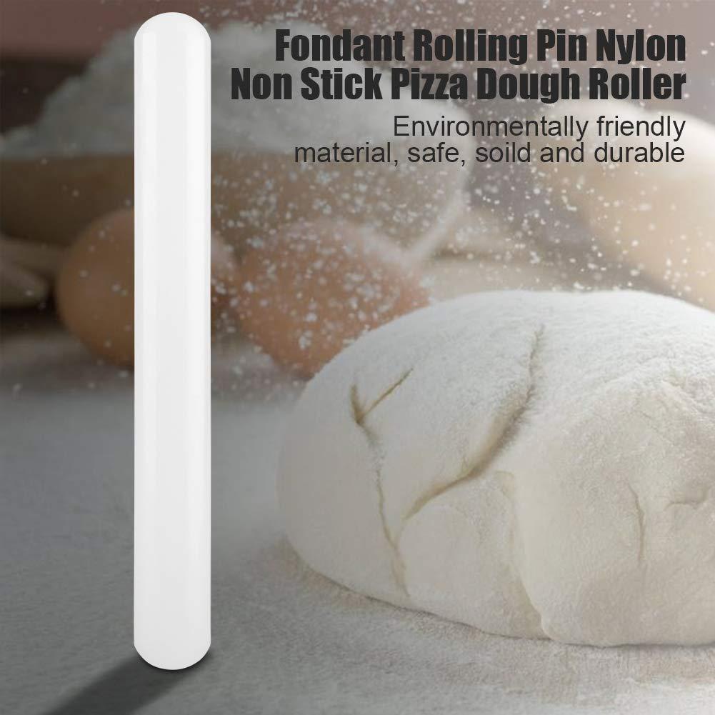Rodillo Antiadherente de Nylon Rodillo No Adherente Para Hornear Pasta Sugarcraft Fondant Pizza Pasteler/ía Pastel de Bricolaje