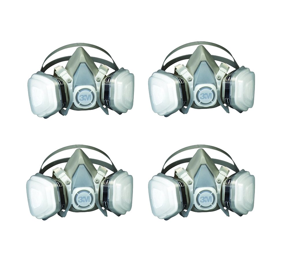3M 07193 Dual LRpMa Cartridge Respirator Assembly,Organic Vapor/P95, Large (4 Pack)