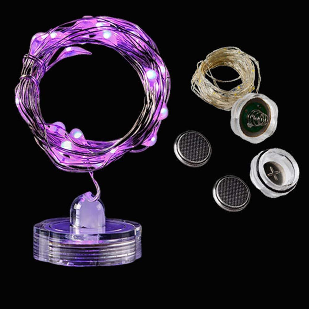 Robemon Noël Guirlandes Lumineuses 1M 10 LED Imperméable l'Eau Fil Cuivre de Lumière Fée étanche Base Lampe Bougie Chaîne Lampe Veilleuses Déco Tableau/Arbre/Maison/Escaliers/Cuisine