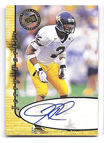 JERRY PORTER 2000 Press Pass AUTOGRAPH Rookie Card RC West Virginia Mountaineers Oakland Raiders Football 2000 Press Pass Autographs