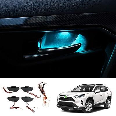 Powerty RAV4 LED Light Inner Door Handle Bowls Mood Lighting Decorative Interior Car Lamp for RAV4 Toyota 2020 2020 4PCS(Ice Blue): Automotive