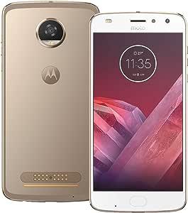Motorola Moto Z2 Play (XT1710-09) 64GB Gold, 4GB RAM, Dual SIM, GSM Unlocked International Version, No Warranty