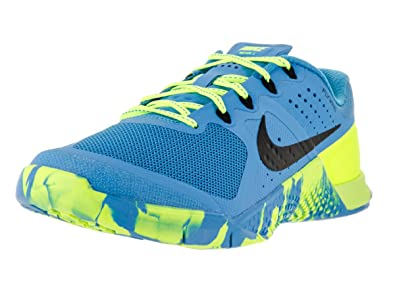Nike Womens Metcon 2 Amp Blue Glow/Black Volt Black Training Shoe 6 Women US