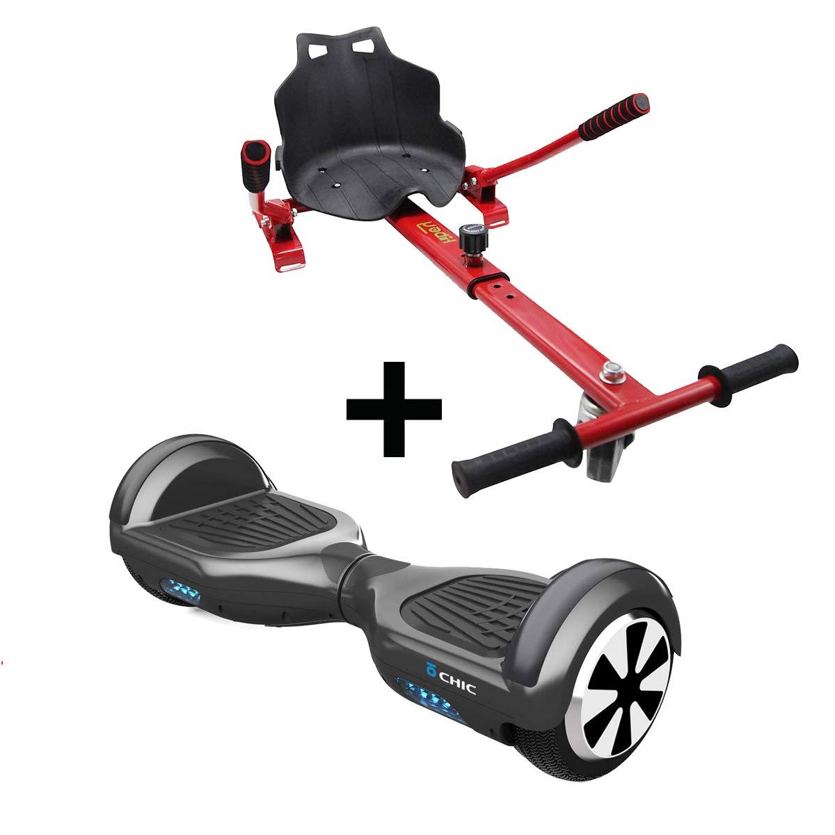 Hiboy-Asiento Kart para Patinete Eléctrico, Silla Self Balancing Compatible con Todos los Patinetes Eléctricos de 6.5, 8 y 10 Pulgadas