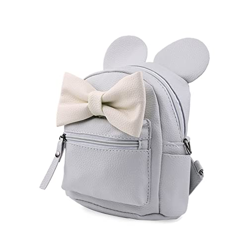 green living-6 Mini Mochila para PU Femenina Moda Bowknot Lindo the Mickey Cuero Backpack
