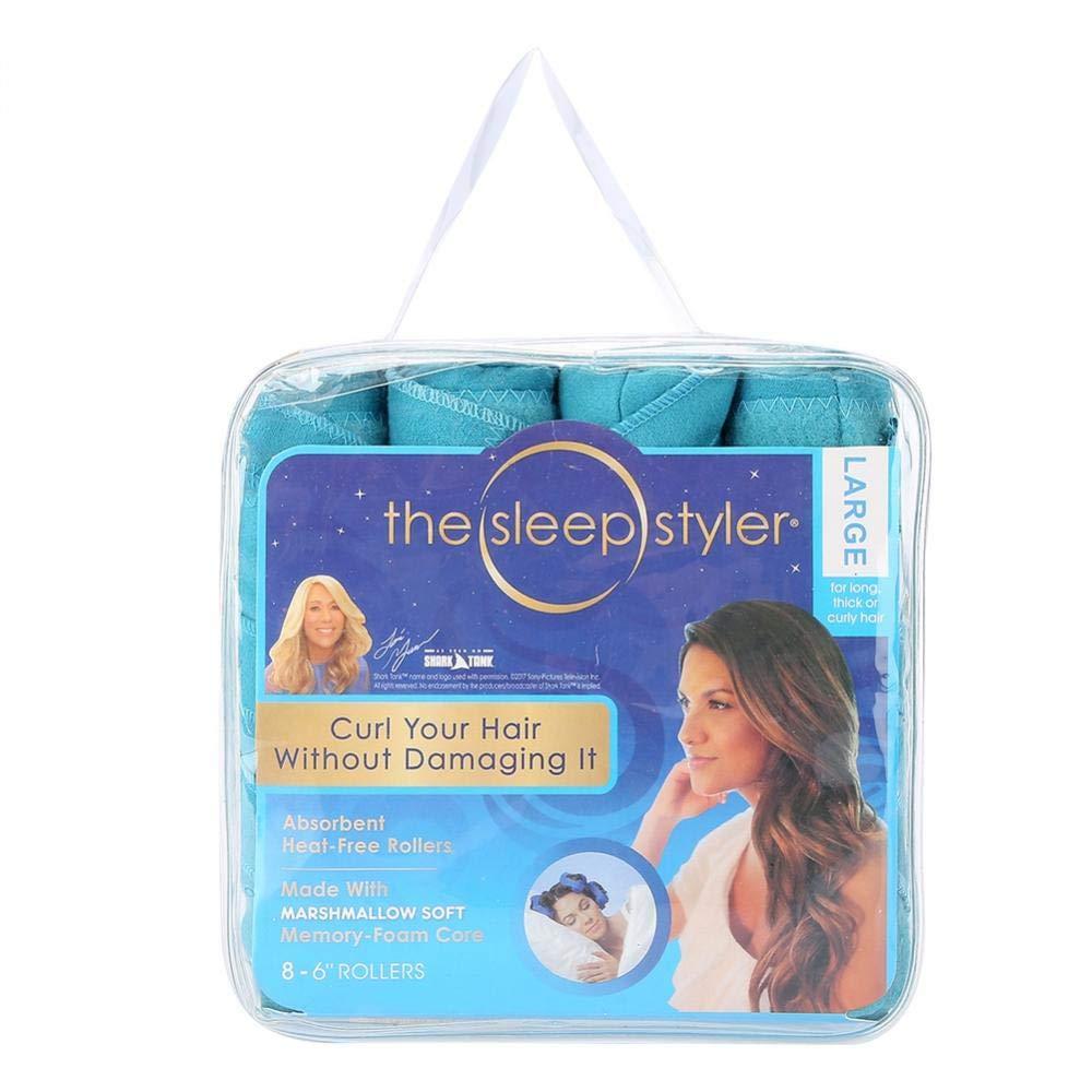 Acogedor rizadores de pelo, largo y suave, juego de 8 rizos de pelo mágico de fácil uso para pelo largo y corto
