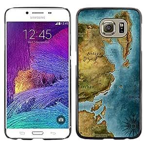 Stuss Case / Funda Carcasa protectora - Ancient Map Continent Sea Ocean Chart - Samsung Galaxy S6 SM-G920