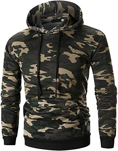 Jushye Mens Hoodies,Autumn Casual Long Sleeve Hooded with Pocket Zipper Jacket Coat