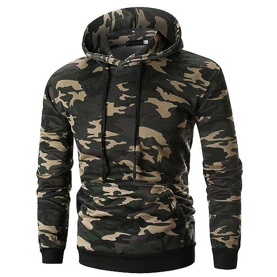 Herren Sweatshirt LSAltd Männer Camouflage Langarm Hoodie Sweatshirt  Lässige Kapuzenpullover Dick Top Shirt Tunika Mantel für Kalte Winter   Amazon.de  ... 8b92534eee