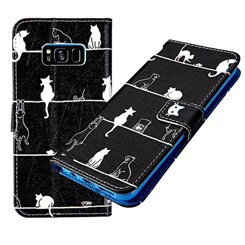 another chance 3f5b3 8684d Galaxy S7 Case, Lemy Journey Galaxy S7 Phone Case, Design Dual-Use Flip PU  Leather Fold Wallet Pouch Case for Samsung Galaxy S7 (CAT)