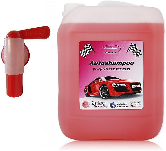 5 Liter Professional Premium Autoshampoo Konzentrat Mit Auslaufhahn Abperleffekt Aktivschaum Auto