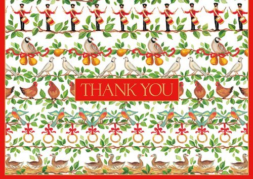 ionery Thank You Cards Christmas 12 Days 16 Note Cards & Envelopes Boxed (12 Boxed Notes)