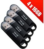 4 x Toshiba Transmemory 16 GB USB 3.0 Flash Drives - Black (THN-U361K0160M4-X4)
