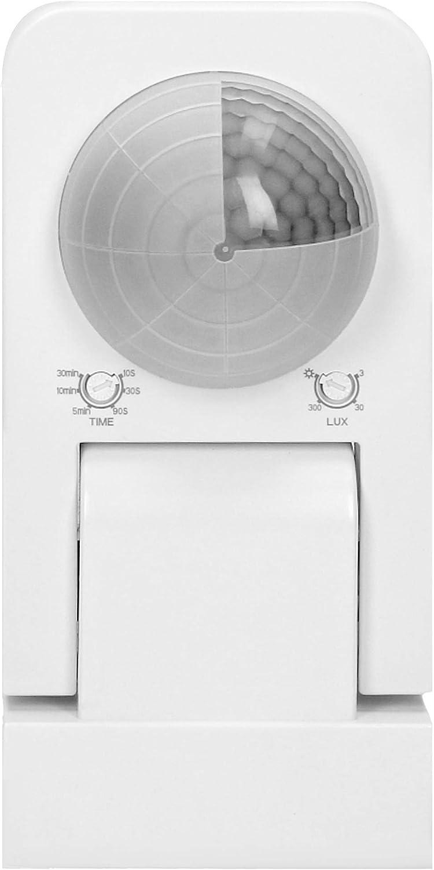 Orno CR-259//B Bewegungsmelder Aussen IP65 360 Grad mit D/ämmerungssensor wei/ß