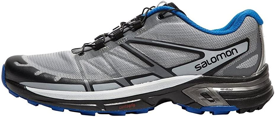 Salomon Wings Pro 2, Zapatillas de Trail Running para Hombre, Gris (Monument/Black/Nautical Blue), 40 2/3 EU: Amazon.es: Zapatos y complementos