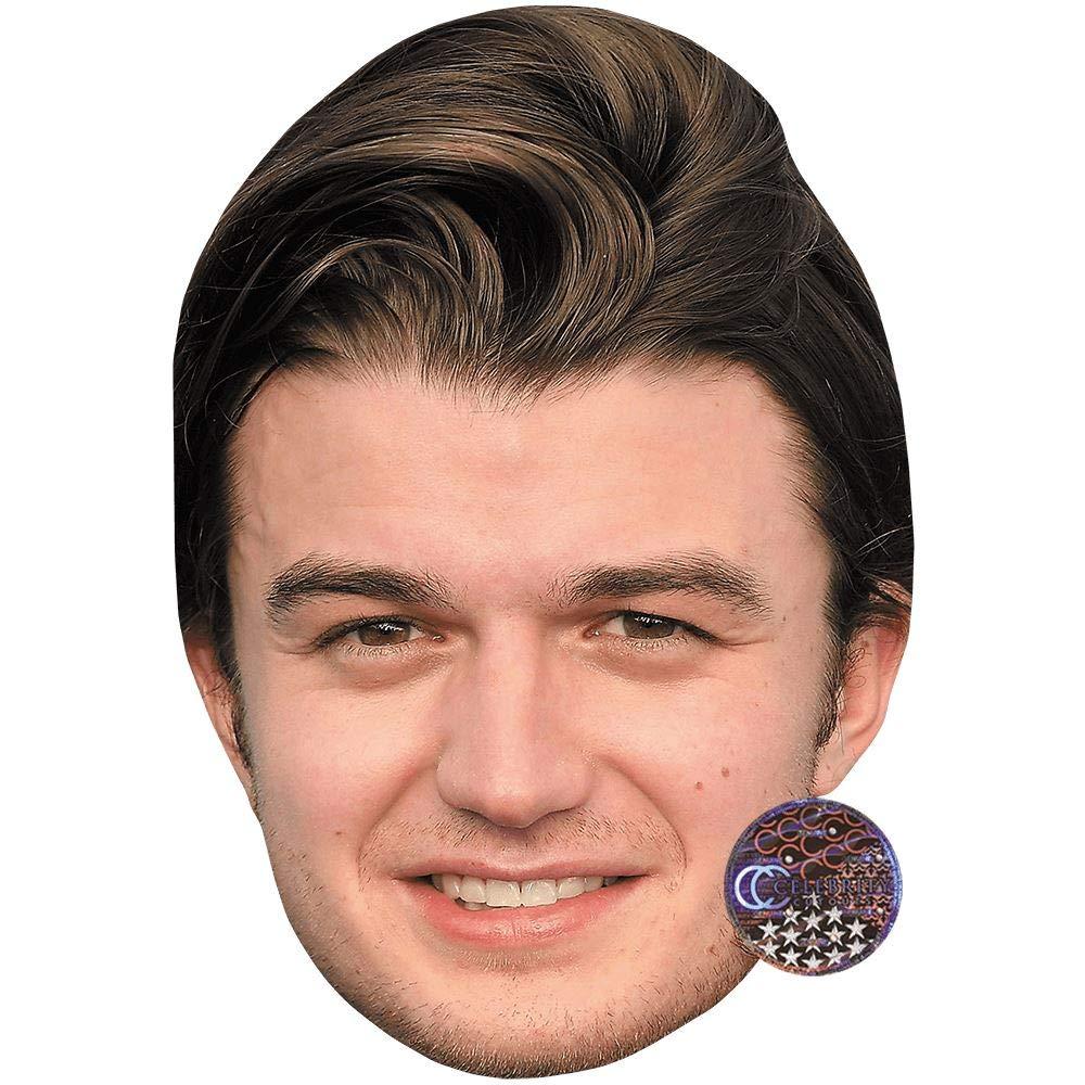 Celebrity Cutouts Joe Keery (Smile) Big Head. Larger Than Life mask. by Celebrity Cutouts