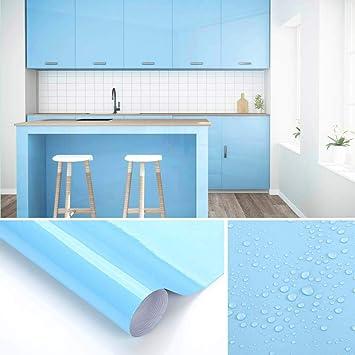 KINLO Möbelfolie Blau 61x500cm aus hochwertigem PVC ...