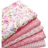 5pcs/lot 40cm x 50cm Pink 100% Cotton Fabric For Sewing Fat Quarter Quilting Patchwork Tissue Tilda Doll Cloth Kids…