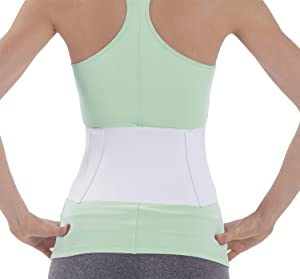 NYOrtho Tapered Abdominal Binder Compression Wrap - Breathable Stomach Support Post Injury or Surgery- with Contoured Body-Specific Design - 28-36 Inch