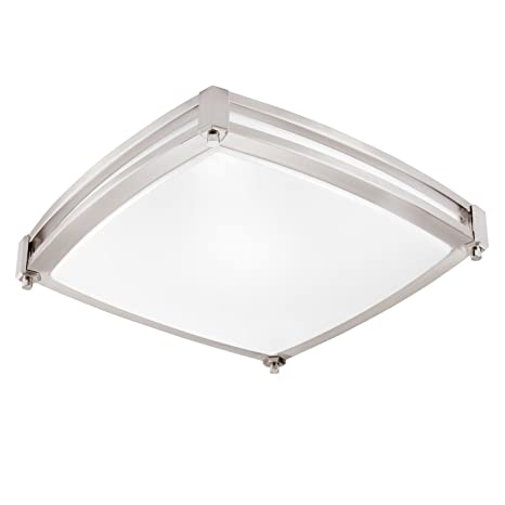 GetInLight LED Flush Mount Ceiling Light, 16-Inch, 25W(125W Equivalent)