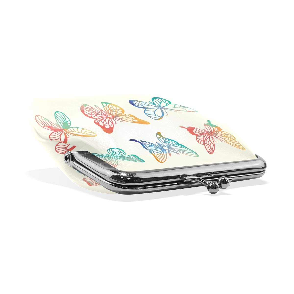 LALATOP Colorful Butterfly Womens Coin Pouch Purse wallet Card Holder Clutch Handbag