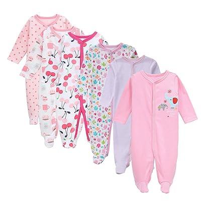 6pcs Baby Rompers Newborn Infant Baby Boys Girls Cotton Jumpsuit Bodysuit Stripe baby clothes