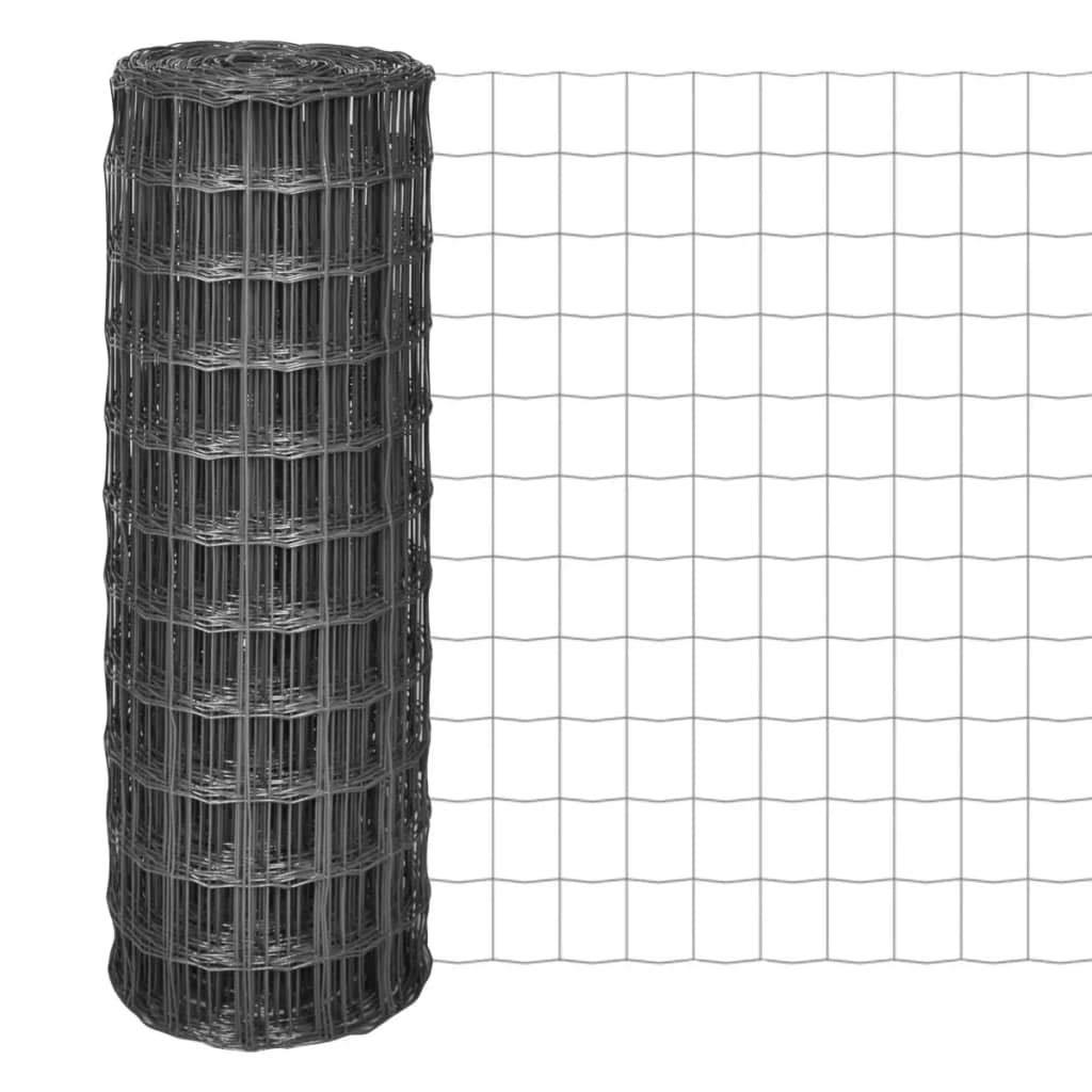 Aiuola edging-garden Binzhoueushopping recinzione 25 x 1.7 m con rete 100 x 100 mm in acciaio grigio