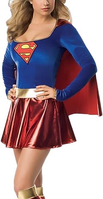 Mujer Vestidos De Fiesta Cortos Classic Chic Supergirl Costume ...