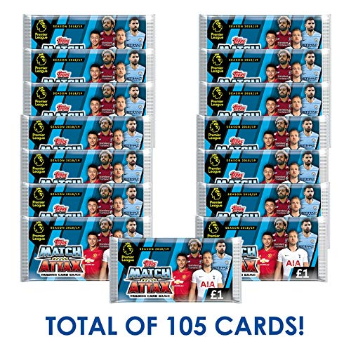 (EPL 2018-19 Topps Match Attax Cards - 15-Pack Set (7 Cards per Pack) (Total of 105 Cards))