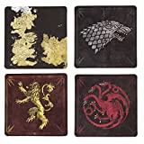 Game of Thrones Cork-Back Coaster Set, Multicolored (Assorted)