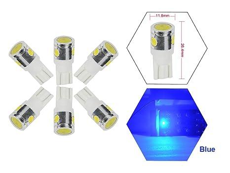 NJYTouch - 6 bombillas LED T10 de 4 ledes W5W 2825 158 para interior de vehículo