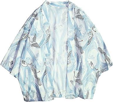 Chaqueta Haori De Verano Capa Japonesa para Hombre Abrigo Cardigan Kimono Hippie Ropa