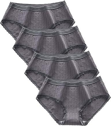 Bragas Moda para Mujer Ropa Interior Acogedora Calzoncillos Bonitos Algodón Media Cintura Ropa Interior Linda: Amazon.es: Ropa y accesorios