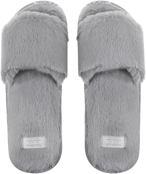 Two Tone Plush Mule slippers Sizes 3-8 Woman/'s Ladies Open Toe Coral Fleece