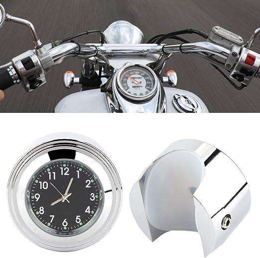 Motorrad Lenkerhalterung Uhr Zeitgenaue Uhr Lenkeruhr Mit Einbausatz Fit Für 7 8 1 Lenker White Auto