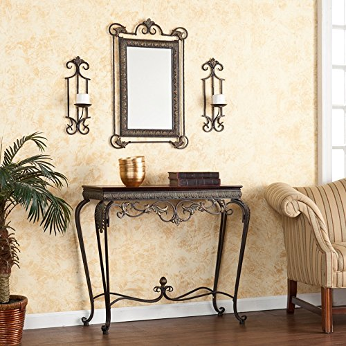 Ergode Capshaw Console/Mirror/Sconce Pair 4pc Set by Ergode