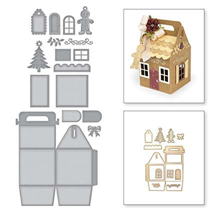Amazoncom Cutting Dies Christmas House Shaped Gift Bag