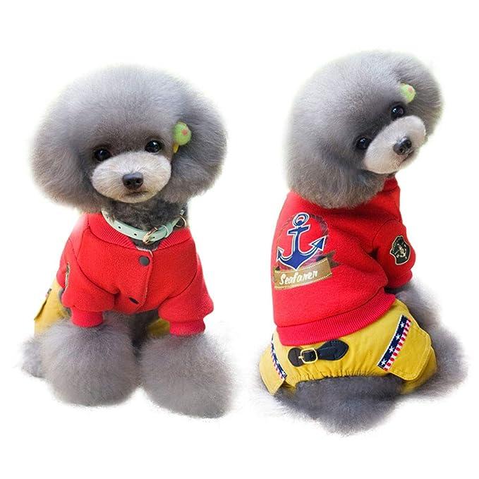 Elvoo Ropa para perros Ropa con cuatro patas Ropa para perros Modelos de otoño e invierno de peluche Abrigo ...